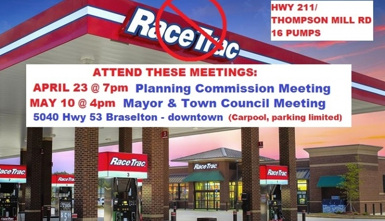 Sign petition: No RaceTrac at Hwy 211/Thompson Mill